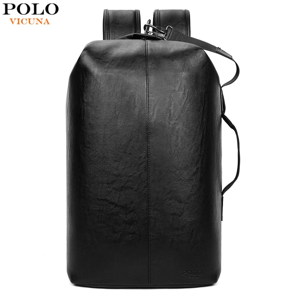 VICUNA POLO Leather personality New Arrival Big Capacity Man Travel Laptop Backpack High Quality Business Men Backpack mochila