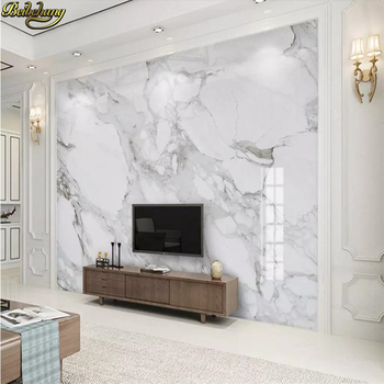 beibehang custom White marble background Photo Wallpaper for Living Room Bedroom Sofa TV Background mural Wall paper 3D Painting beibehang mural wall paper modern three dimensional living room bedroom tv backdrop swiss alps scenery 3d photo wallpaper roll