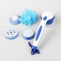 2017 Spa Massage Electric Shower Brush Cleaning Bath Brush Scrub Spin System Long Handled Bathroom Tool