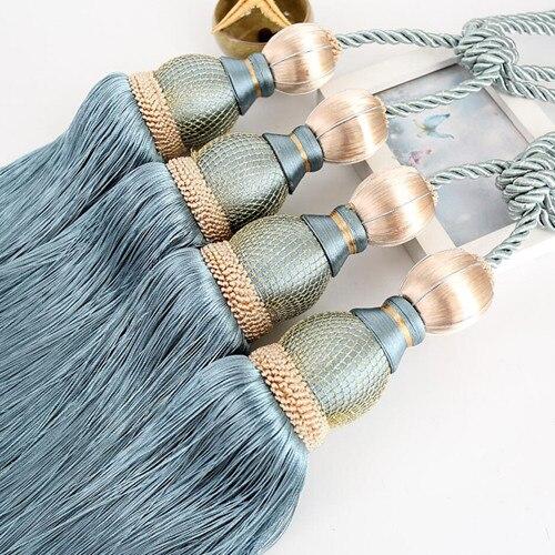 1 пара роскошный высококлассный Магнитный кристаллик для занавесок Европейский двойной шар с перекрестной шнуровкой и украшениями круглой формы аксессуары-подвески связующая лента задняя N119 - Цвет: E