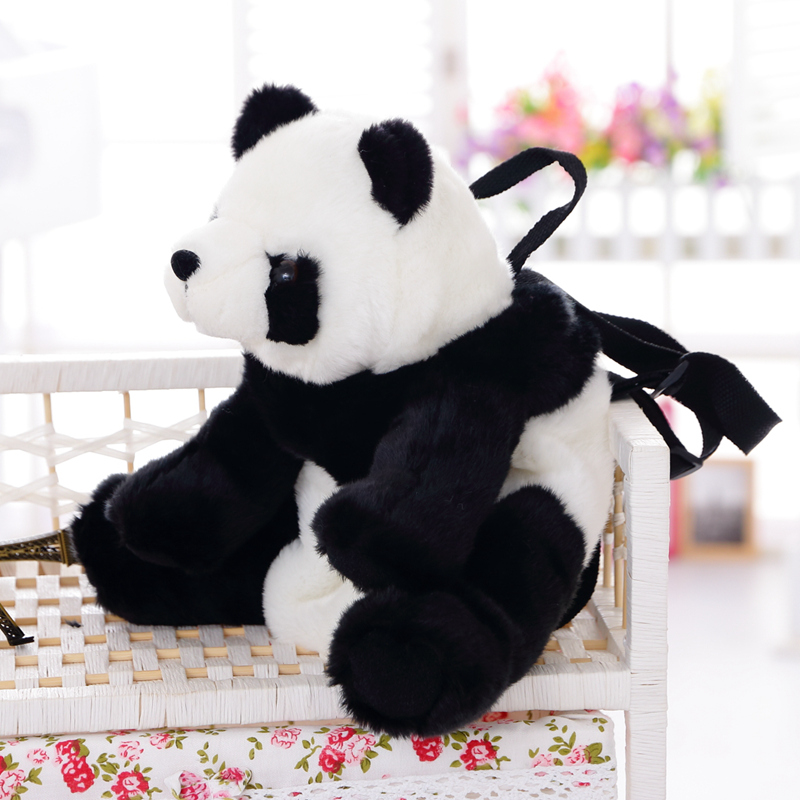 Mochila Kawaii Panda de felpa, bonita mochila de juguetes de felpa, bolsa de juguete para niños, bolso de mano, regalo para niños, regalo de Navidad, en venta Lote de 8 unidades de figuras de acción de Panda, Panda, Mini modelo de PVC para niños, juguetes de animales para niños, regalos de cumpleaños