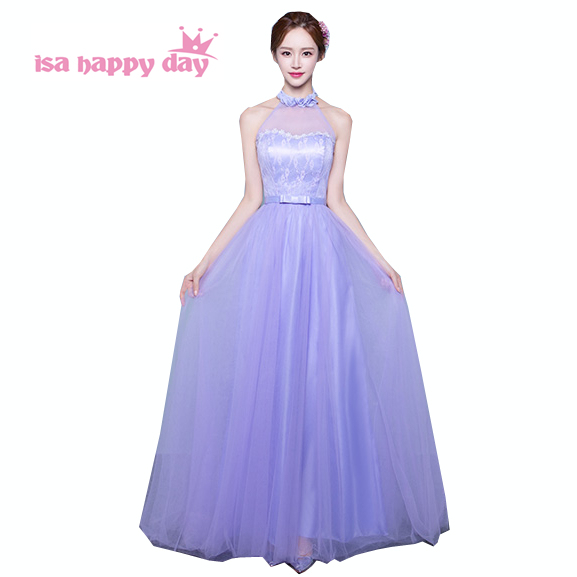 b2fd15d7763 girls vintage long lavender halter top lace up back tulle corset puffy ball  gown fitted prom dresses 2019 under  50 H3739
