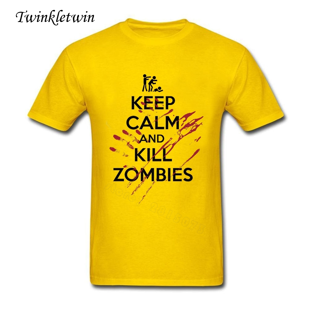 Keep calm and biohazard on keep calm and carry on image generator - 2017 Summer 100 Cotton Men Keep Calm And Kill Zombies Tee Shirt Cheap Sale Short
