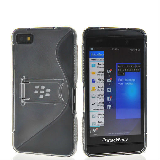 Free shipping fashion soft TPU silicone flip side to maintain cover for BlackBerry Z10 London, Surfboard, L-Series, L10 grey