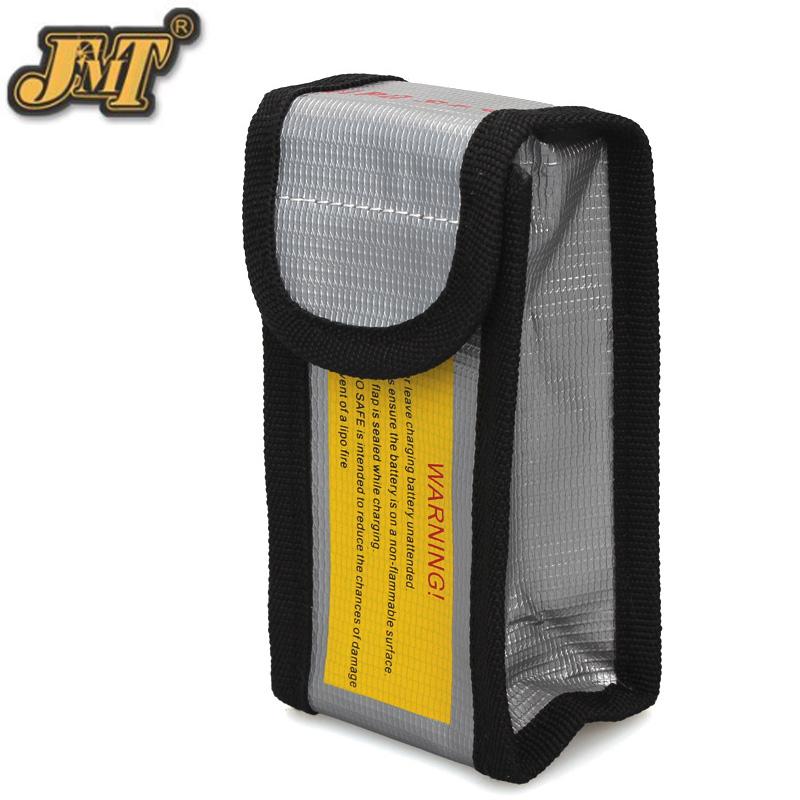 JMT High Quality Fireproof Explosionproof RC LiPo Battery Safety Bag Safe Guard Charge Sack 125*64*50MM image