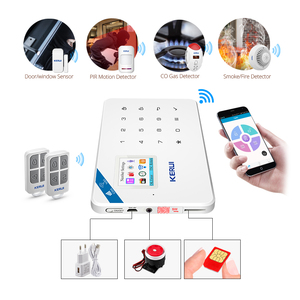 Image 5 - KERUI W18 אזעקת Wifi GSM IOS/אנדרואיד APP נפש שלט רחוק LCD GSM SMS פורץ אבטחת אזעקה מערכת אבטחה