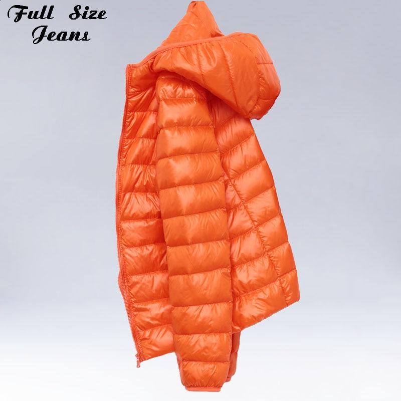 Winter Plus Size 4Xl New Ultra Light Duck   Down   Jackets Women Hooded Winter   Coat   Long Sleeve Warm Slim   Down   Jacket Puffer Jacket