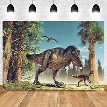 Mehofoto Dinosaur Jurassic World Background Studio Photo Child Birthday Safari Jungle Adventure Party