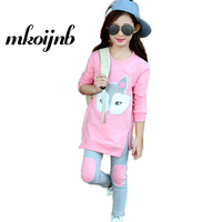 Girls Tracksuits For 2018 Cute Teens Clothing Sets Spring Cartoon Sportswear Outfits Girls Sports Suits For 5 6 8 10 12 14 Year