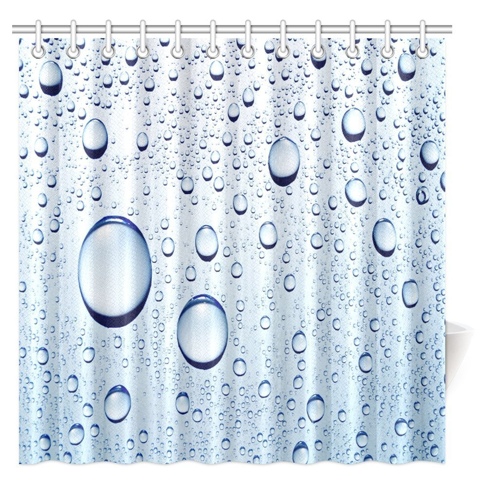water bubbles shower curtain water drops polyester fabric bathroom shower curtain extra long waterproof shower curtains