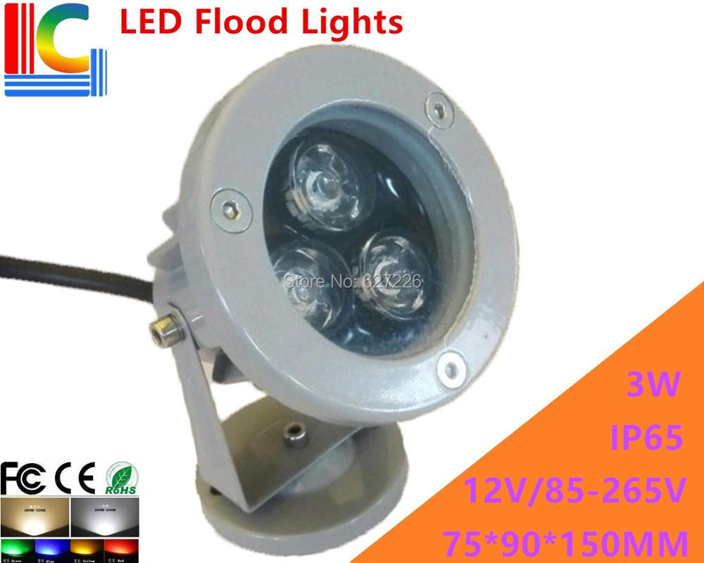 High-quality 3W LED Floodlights IP65 High Power Spotlight 12V 110V 220V advertising lights shine tree lights lawn lamp 4PCs/Lot