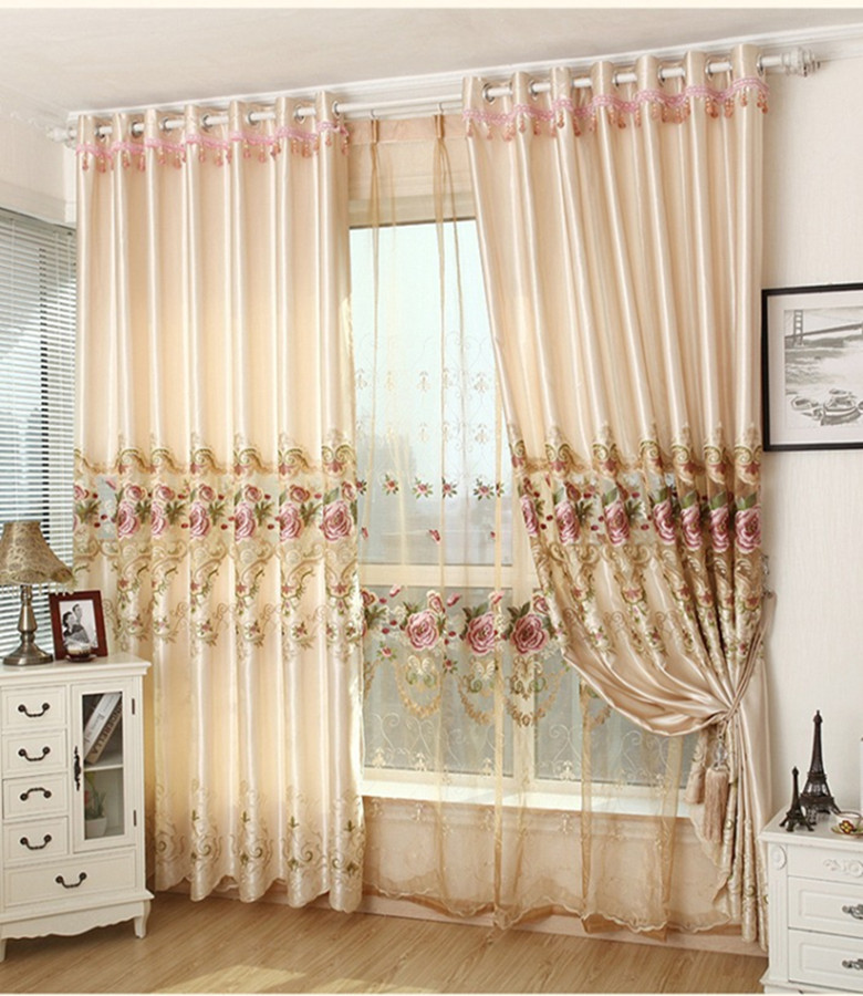 Cheap Price Luxury Embroidered Curtains European Style Curtains for Mansions and Villas