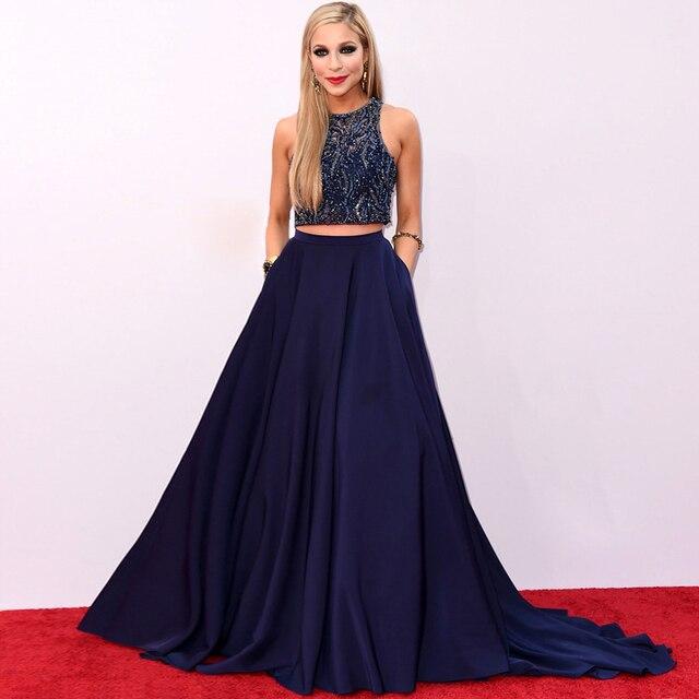 Gatsby largo vestido de celebridades vestidos fuera del hombro alfombra roja vestido con cuentas Glitter 2 unidades de noche noche del partido de baile