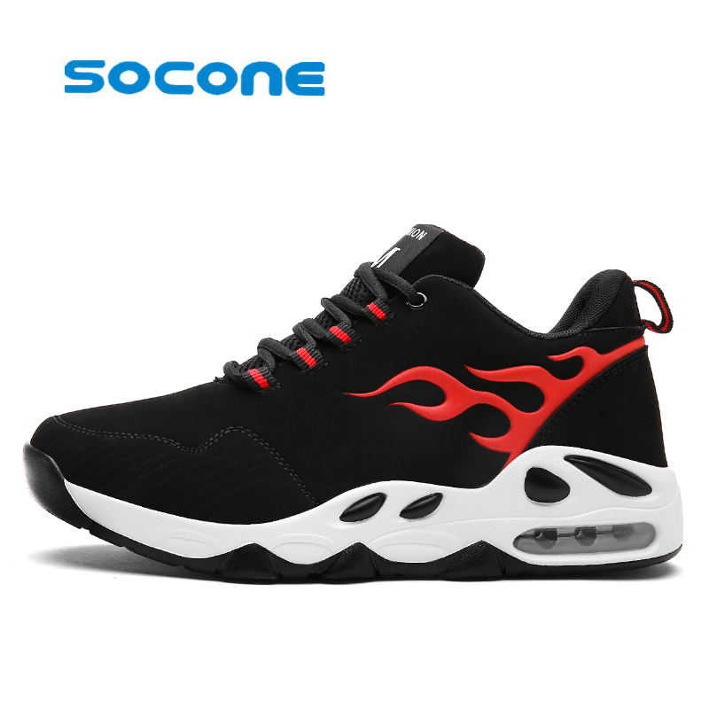 Socone Newest Men Basketball Shoes 2017 Male Ankle Boots Anti-slip outdoor Sport Sneakers Max Air shoes