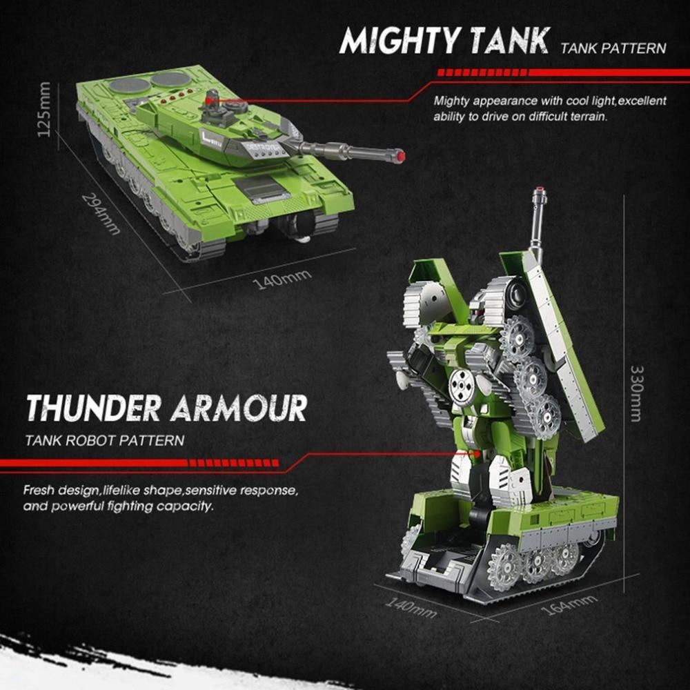 2.4G télécommande Simulation héroïque terre bataille réservoir modèles une clé Conversion Robot automatique véhicule jouets pour garçon cadeau