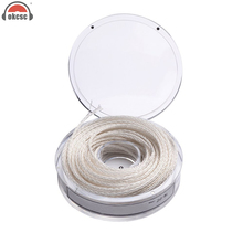 OKCSC DIY 8-core Earphone Audio Upgrate cable for  headphone Headset Single Crystal Silver 5 Meters