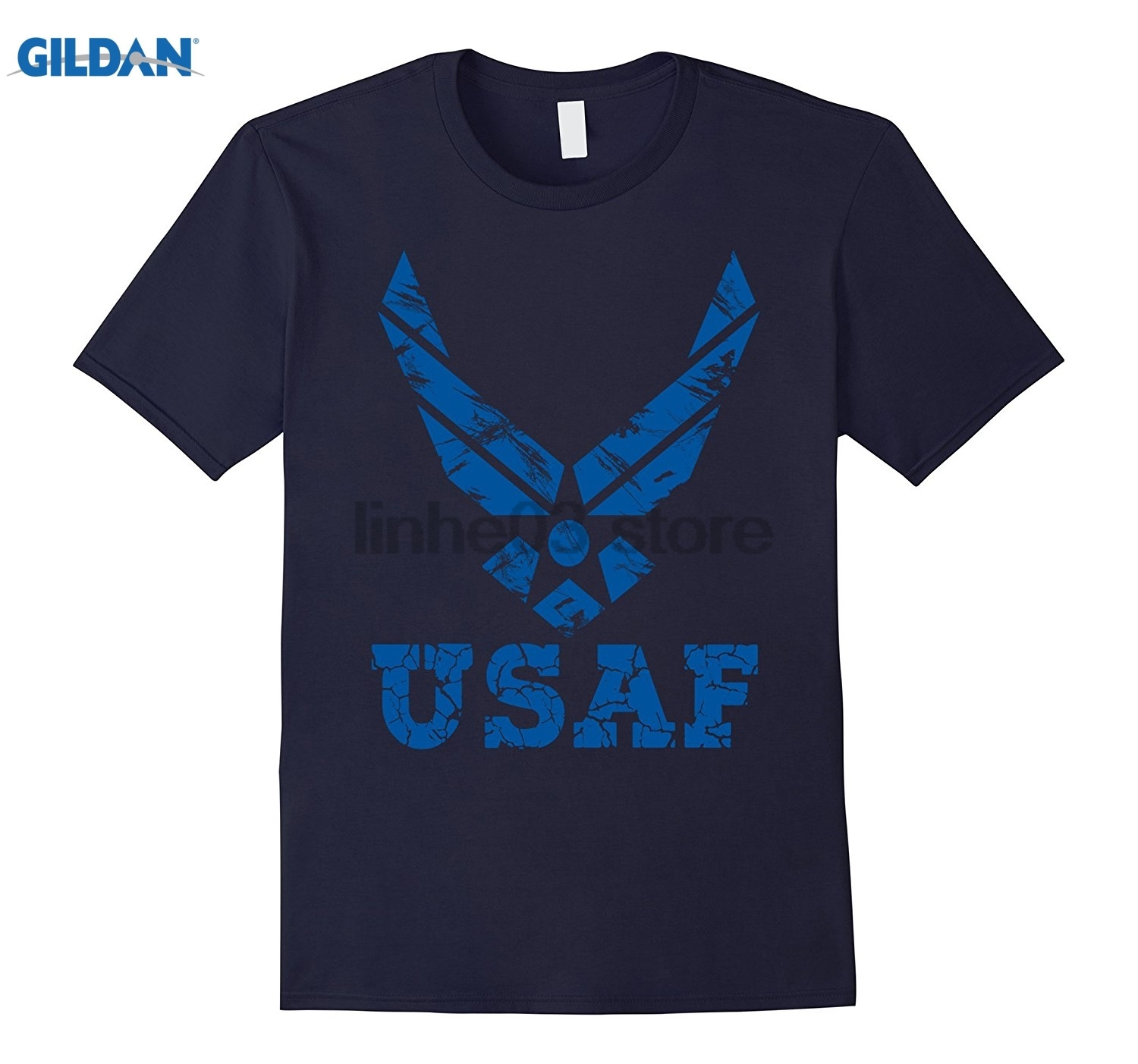 GILDAN U.S. AIR FORCE ORIGINAL USAF LOGO T-SHIRT Dress female T-shirt Mothers Day Ms. T-shirt