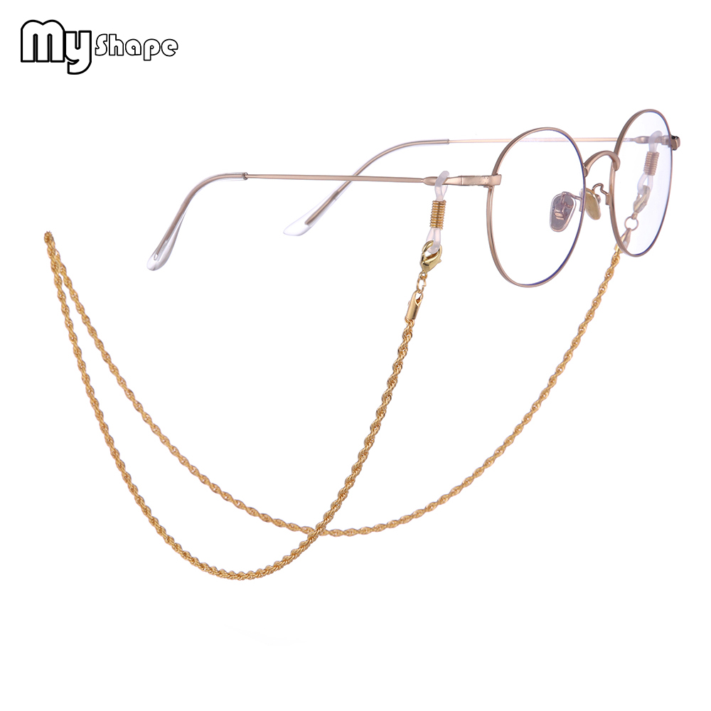 b53f23016204 My Shape Twisted Glasses Chain Gold Silver Rose gold Long Eyeglass Chain  Eyewear Accessories for Women Men Reading Lanyard Strap-in Accessories from  Apparel ...
