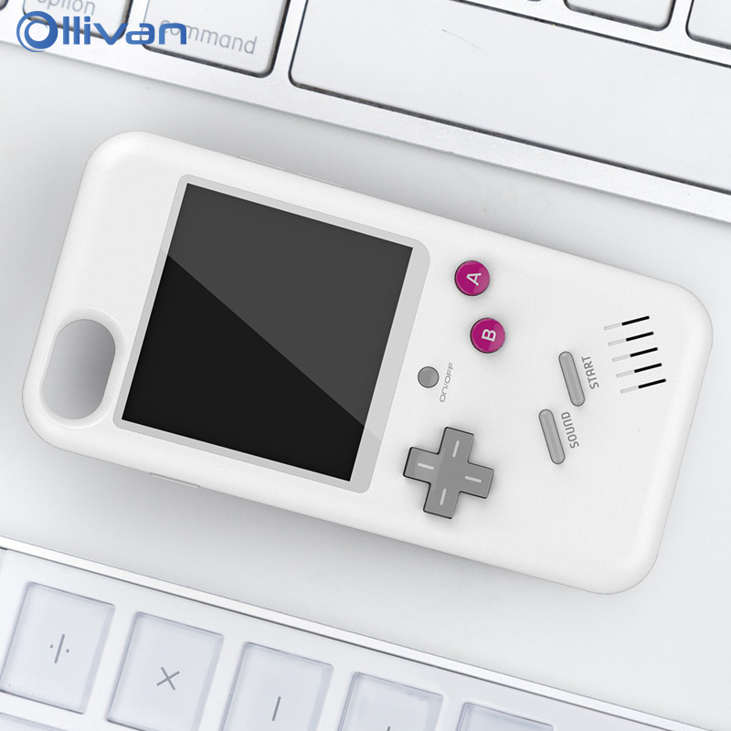 Tetris Game Case For iPhone  6 6s 7 8 6 Plus X Cover Handheld Play Gameboy Console Tetris Retro Cover Coque For iPhone 7 Capa game boy phone case