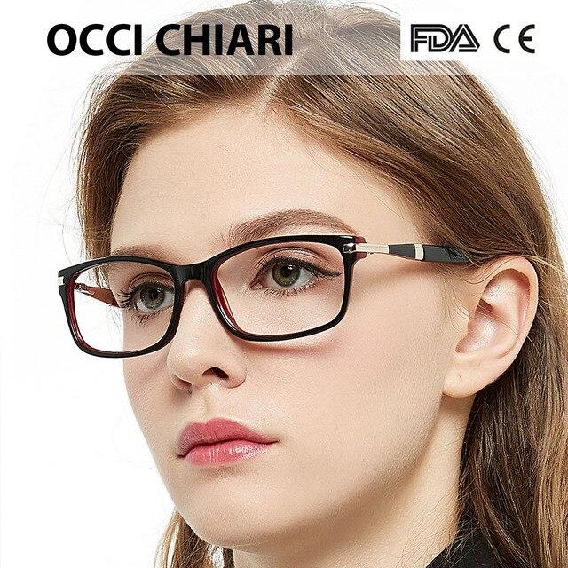 62bd30be1666 OCCI CHIARI Optical Glasses Frame Fashion Eyeglasses Italy Design For Women  Brand Designer Prescription Lens Medical