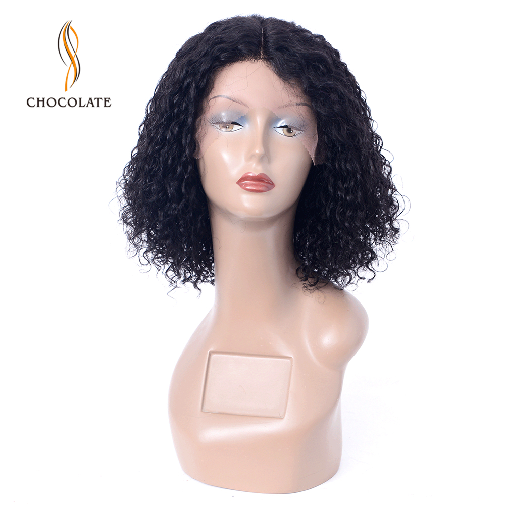 T Shape Mongolian Kinky Curly Wig Lace Human Hair Wigs For Black Women 150 Density 13*2 Remy Middle Part Lace Wig