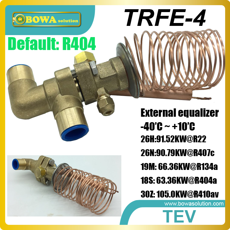 26RT cooling capacity thermostatic expansion valve is suitable for water chiller or heat pump equipments, R410a TXV avaliable univeral expansion valves suitable for wide cooling capacity range and different refrigerants fridge equipments or freezer units