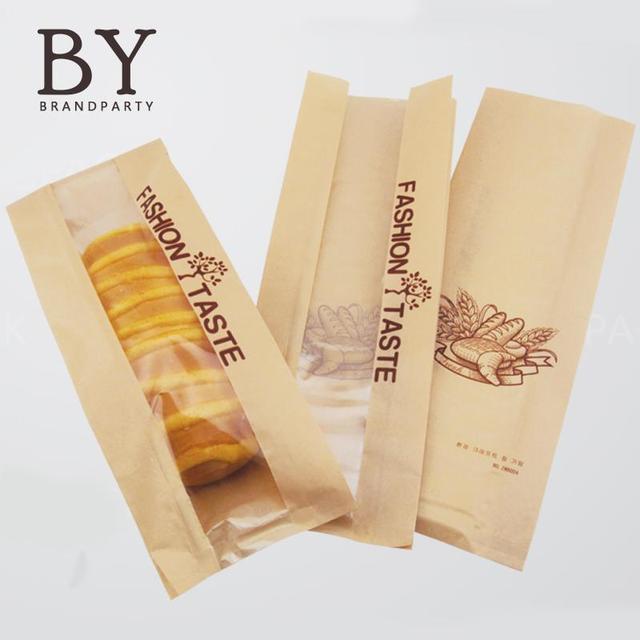 Célèbre 50 PCS papier Kraft sacs boulangerie toasts emballage sacs pain  WG38