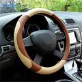 Nova Alta de Couro Micro Fibra Car Volantes Covers 38 CM/15 ''Cubos de Roda Da Direcção Do Carro Styling, Steering roda-Frete Grátis