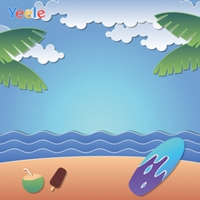 Yeele Summer Party Seascape Beach Coconut Customized Photography Backdrop Personalized Photographic Backgrounds For Photo Studio