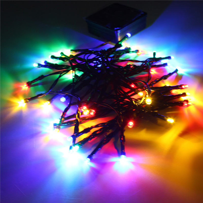 Smuxi 5.2M Solar Colorful Fairy Light 50 LED String Light 1.5W Led Outdoor Light Yard Garden Path Chirstmas Party Decor Lamp