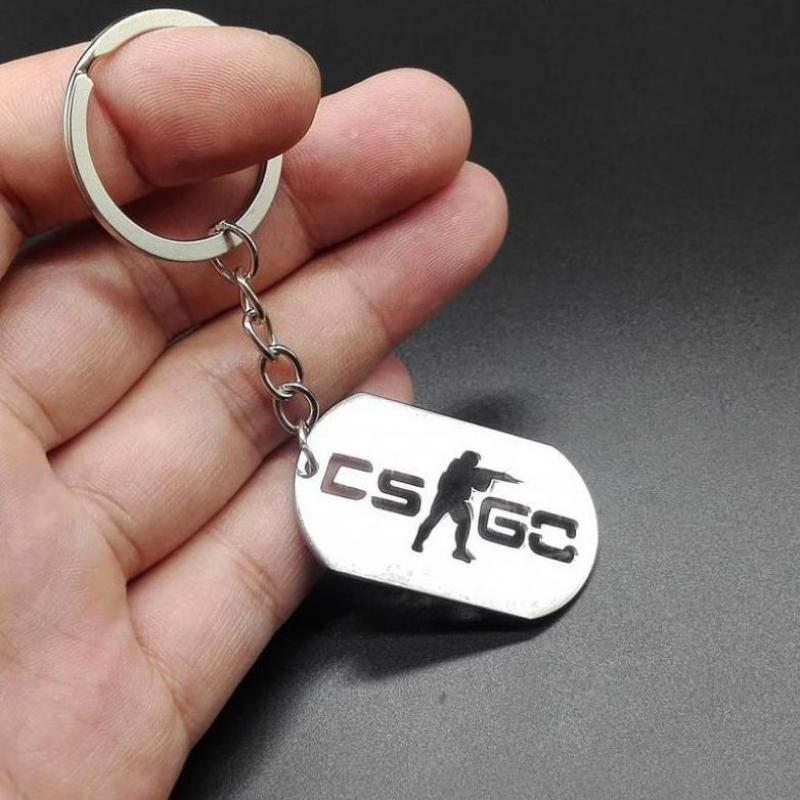 New Creative Counter-attack Elite Csgo Stainless Steel Key Chain Through The Fire Line C ...