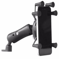 Black Composite Rubber And Stainless Steel Anti Theft Useful Bicycle Handlebar Universal Cell Phone Holder For