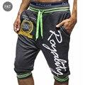 2016 Dos Homens Quentes de Verão Calções Marca Bermuda Meninos Letra Impressa Casual Curto Homens Jogger Calças Na Altura Do Joelho Harem Pants dos homens calções