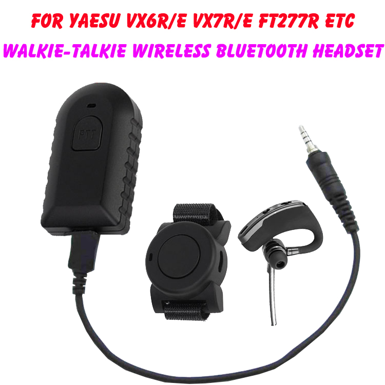Walkie Talkie Wireless Bluetooth Headset Two Way Radio Wireless Headphone Earpiece For Yaesu Vertex VX-6R VX-7R VX6R VX7R FT-270