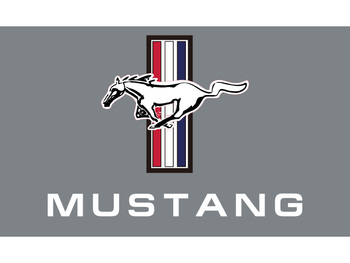 90x150cm 60x90cm Mustang Gray Flag Car Banner Race Racing Decoration 3x5ft Polyester image