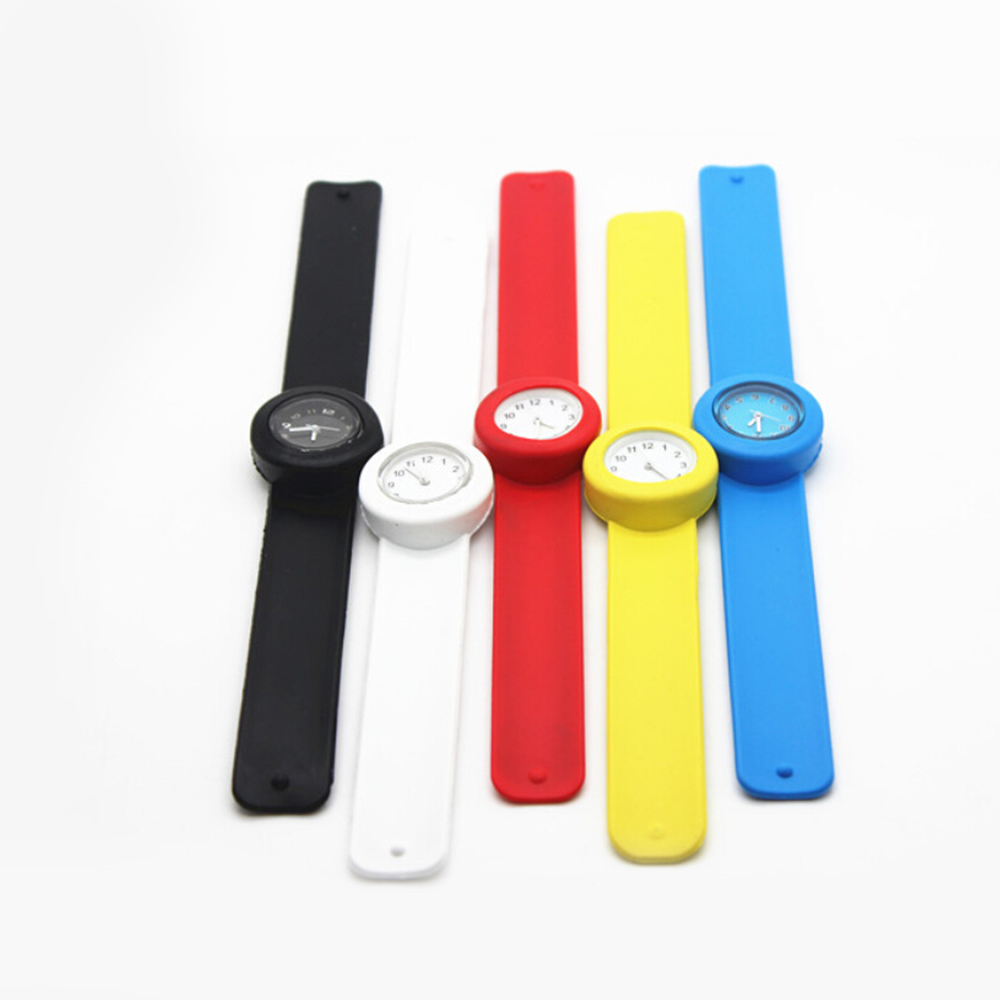 5 Candy Colors Watch Kids Silicone Rubber Wrist Watch Children Christmas Gift Boy Girls Jelly Candy Slap Student Quartz Watches