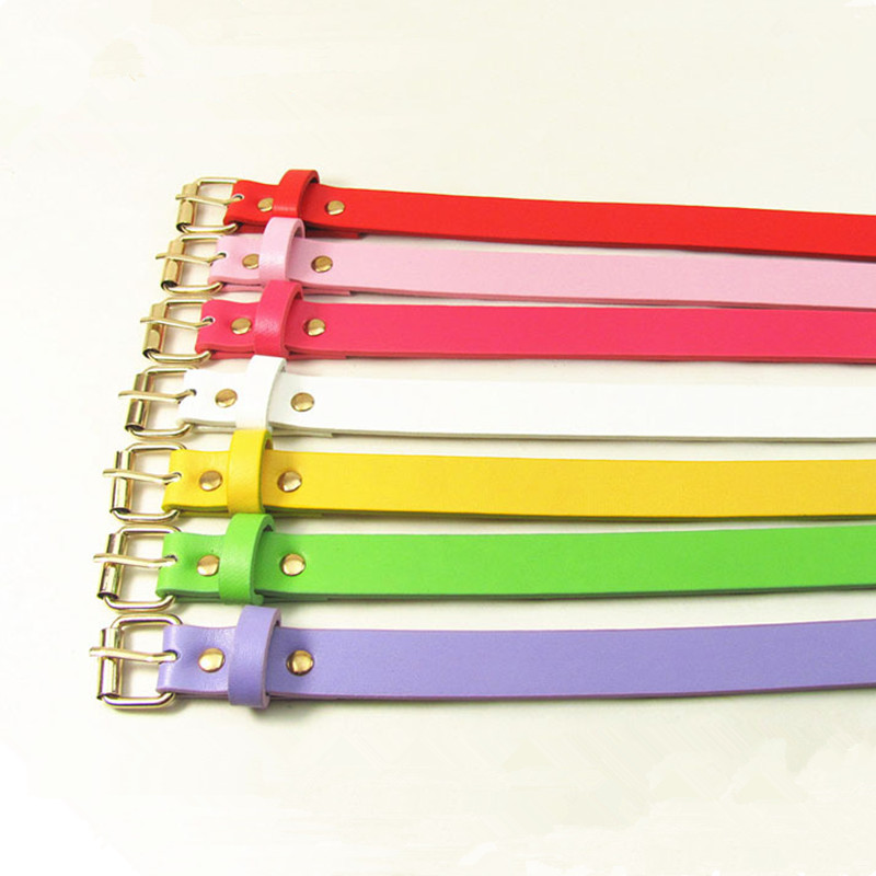 Colorful Women Belt PU Faux Leather Female Casual Belts White Green Orange Yellow Pink Red Brown Ladies Wholesale Belt Strap