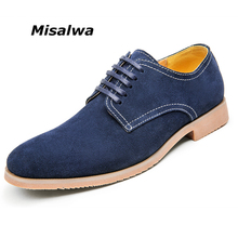 Misalwa 2017 Hot Sale Spring Autumn Men Suede Leather Casual Shoes Classic Brand Quality Men Leisure Shoes Men Oxfords Shoes(China)