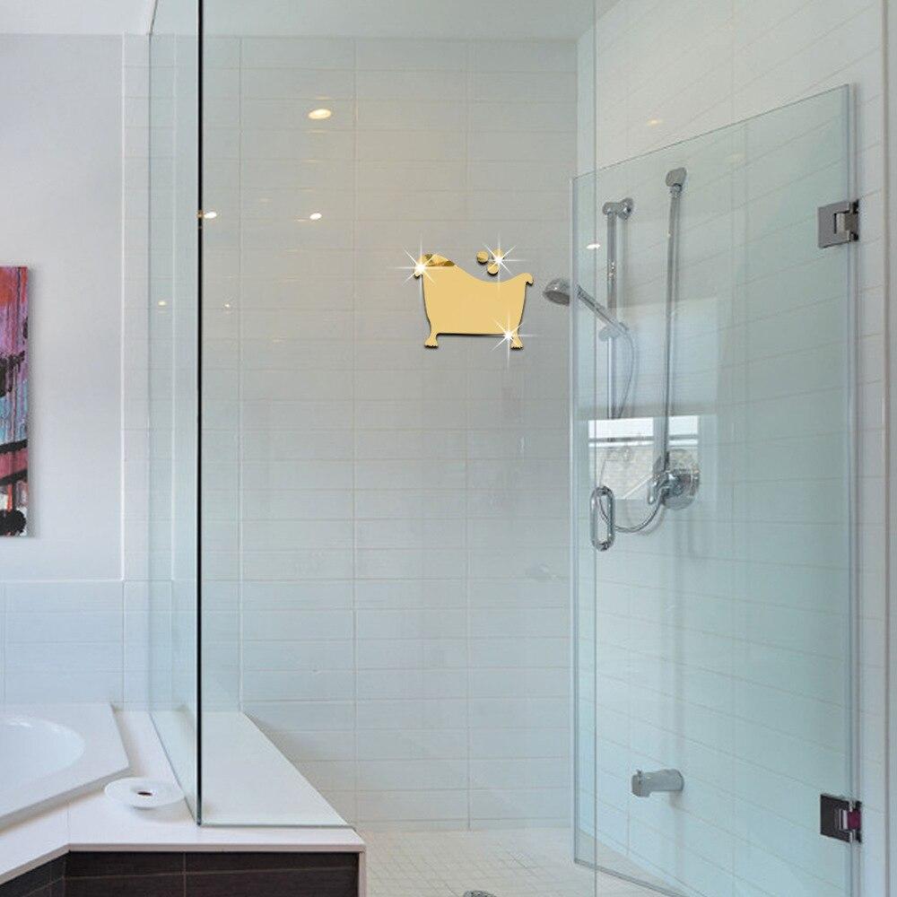 Bathroom Signs Silver aliexpress : buy toilet entrance sign acrylic mirror surface