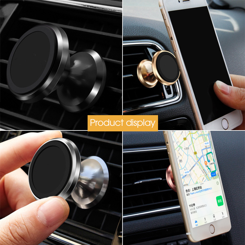 Galleria fotografica Car Phone Holder Magnetic Air Vent Mount Mobile Smartphone Stand Magnet Support Phone in Car GPS For iPhone XS Max For Samsung