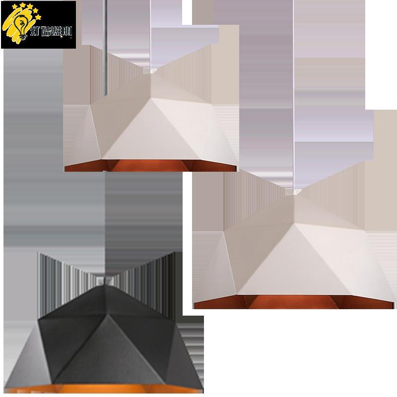 head geometry pot droplight cafe restaurant Industrial wind restoring ancient ways, wrought iron diamond pendant lamp - 5