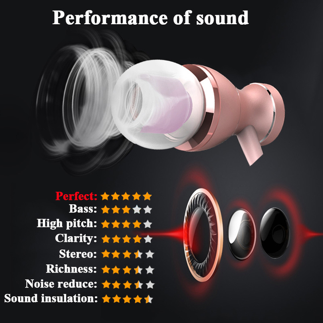 with Mic Microphone 3.5mm Jack Standard Stereo Earbuds In-Ear Wired Earphone Metal Magnetic Headset for Phone