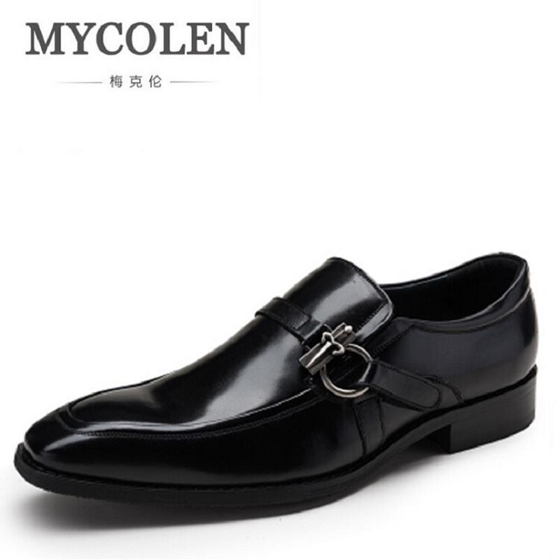 MYCOLEN Top Quality Handsome Comfortable Men Wedding Shoes British Luxury Gentleman Mens Formal Shoes Sapatos Masculino