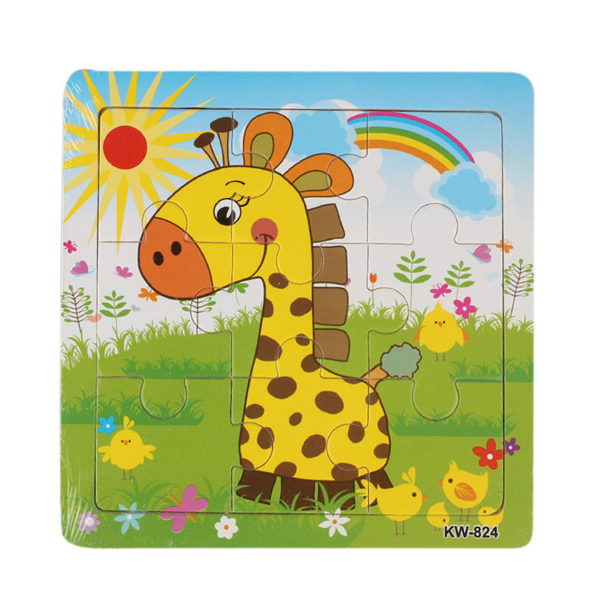 Puzzles For Children Wooden Giraffe Jigsaw Toys For Kids Education And Learning  Toys Puzzles Games Dropshipping 2018