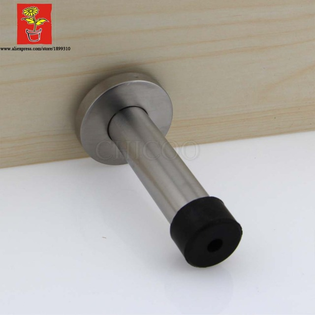 2015 decorative door stopper Stainless steel rubber door stop 3.5inch high wall door holder  & 2015 decorative door stopper Stainless steel rubber door stop 3.5 ...