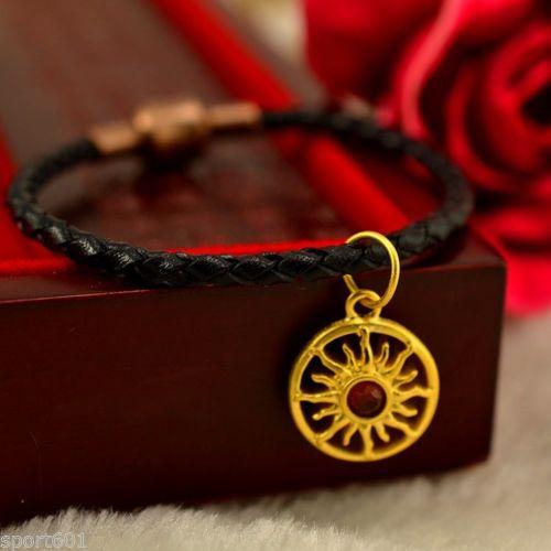 Hi-Q 999 Pure 24K Yellow Gold / Lucky Sunflower Bracelet or Pendant все цены