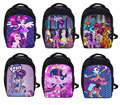 Nuevo Mi Pequeño Pony Mochila Carácter Princesa Celestia Twilight Sparkle Bolsa de Escuela de Los Niños Bolsas de Kindergarten de la Escuela del Estudiante