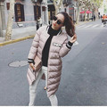 winter 2017  women's slim Down Cotton-padded jacket medium-long baseball uniform wadded jacket casual office warm Coat