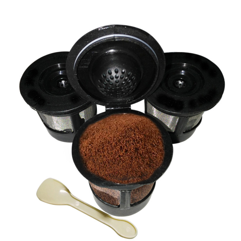 3pcs/lot Coffee Pod Filters Reusable Coffee Filter With A Coffee Spoon Suitable for Keurig K Cup Coffee System
