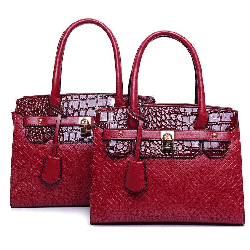 ФОТО 2016Good Gift!high Quality Women Handbag Crocodile Grain  Embossing Ling Platinum Package Vintage Bag Shoulder Crossbody Bag